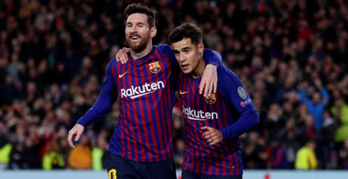 Lionel Messi a Philippe Coutinho
