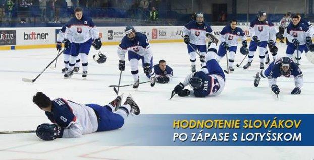1a47019eef10e Hodnotenie slovenských hráčov po zápase s Lotyšskom | Šport7.sk