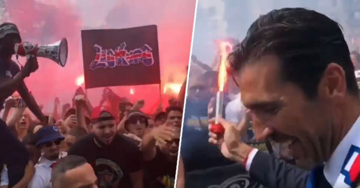 be2643ab7fb07 VIDEO: Fanúšikovia PSG pripravili pre Buffona veľkolepé privítanie |  Šport7.sk