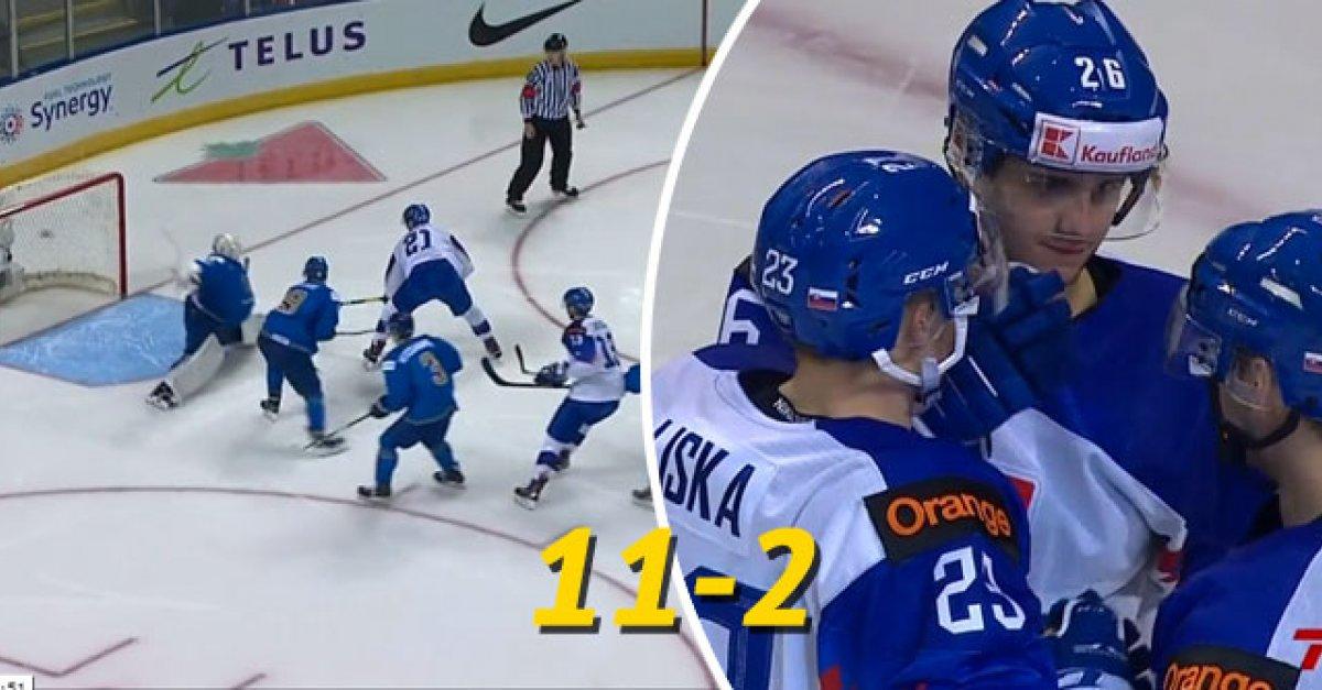 7cc17b0be194e VIDEO: MS20: Gólová kanonáda Slovenska proti Kazachstanu (11:2) | Šport7.sk